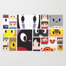 World of Ghibli Blocks Rug