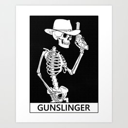 Death the Gunslinger Art Print
