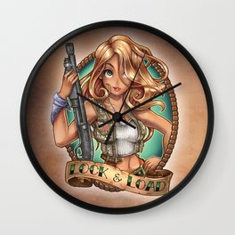 LOCK  & LOAD Wall Clock