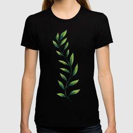 Green Leaves Pattern T-shirt