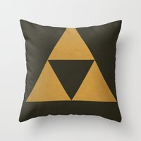 triforce Throw Pillows featuring Triforce by Jynxit