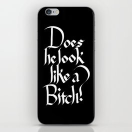 Pulp Calligraphy iPhone Skin