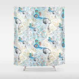 Feather peacock #14 Shower Curtain
