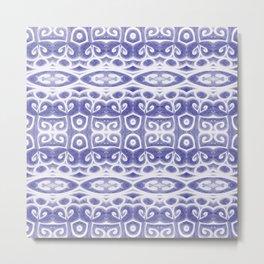 Harmonic purple pattern Metal Print