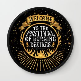 Daughter of the Burning City - Amanda Foody - Black Wall Clock