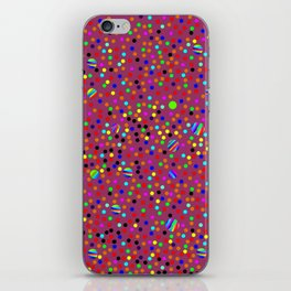 Colorful Rain 13 iPhone Skin