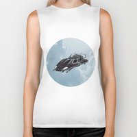spaceship Biker Tanks featuring Spaceship by Design Windmill