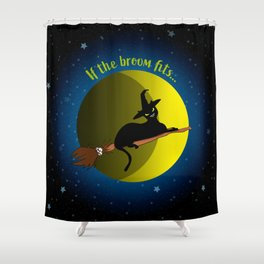 If The Broom Fits Shower Curtain