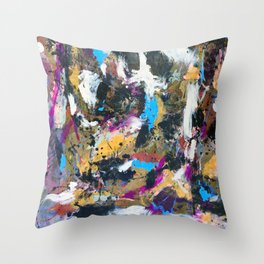 Ghost in the Mirror Throw Pillow