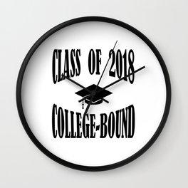 Class of 2018 College Bound Graduation Cap Wall Clock