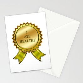 I Ate Healthy Stationery Cards