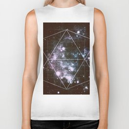 Galaxy Sacred Geometry dark Biker Tank