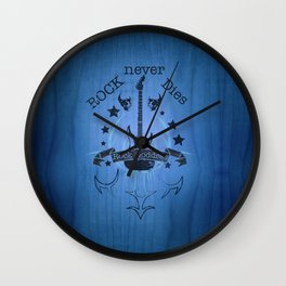 Rock Never Dies - For Music Fans Wall Clock