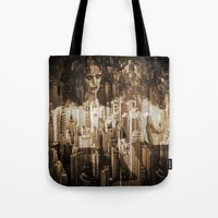 sex and the city Tote Bags featuring Sex in the city by WDeluxe