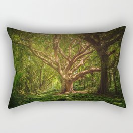 Huge Tree Middle Of Forest Rectangular Pillow