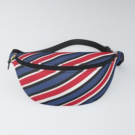 TEAM COLORS 1…Red  white blue diagonal stripe Fanny Pack