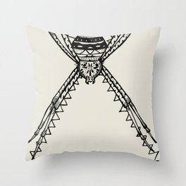 St. Andrew's Cross Spider Throw Pillow