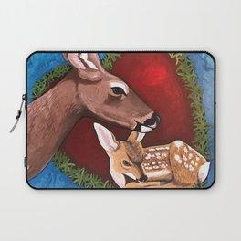 Mama Baby Deer Love Laptop Sleeve