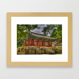 Pavillon at Gyeongbokgung Palace, South Korea Framed Art Print