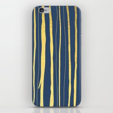 Vertical Living Navy and Gold iPhone Skin
