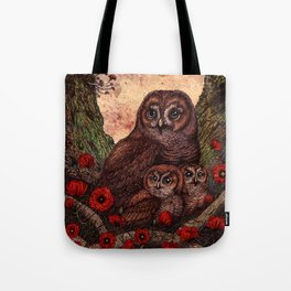 Tawny Owlets Tote Bag
