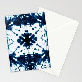 Velvet Shibori Blue Stationery Cards