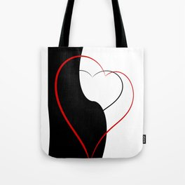 Black and white meets red Version 34 Tote Bag