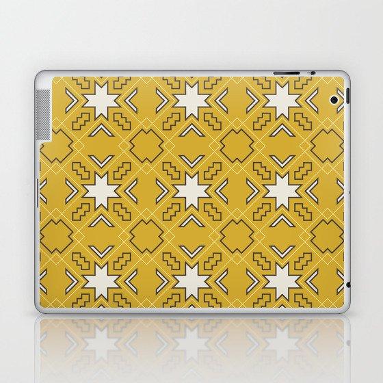 Ethnic pattern in yellow Laptop & iPad Skin