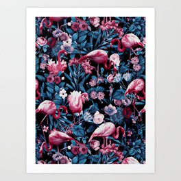 Floral and Flamingo VIII Kunstdrucke