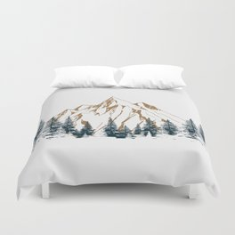 mountain # 4 Duvet Cover