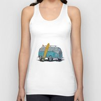 vw bus Tank Tops featuring VW Bus by AshyGough