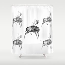 Fallow Deer Stag Shower Curtain