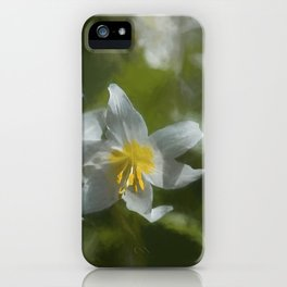 Avalanche Lily Painterly iPhone Case
