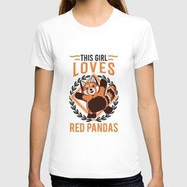 This girl loves Red Panda's Red Panda Girl T-shirt