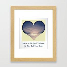 Bending Hearts Framed Art Print