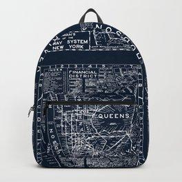 Vintage New York City Street Map Backpack