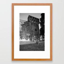 shadows b&w Framed Art Print