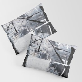 Black & White Abstract Painting Pillow Sham