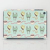 sticker iPad Cases featuring sticker monster pattern 8 by freshinkstain