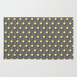 Geo Sprinkles Yellow (Black Sesame) Rug