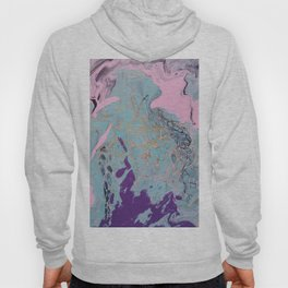 pour painting abstaction Hoody
