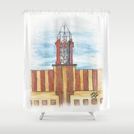 """First"" - St. Paul landmark Shower Curtain"