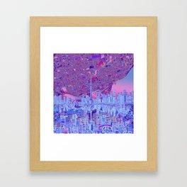 toronto city skyline Framed Art Print