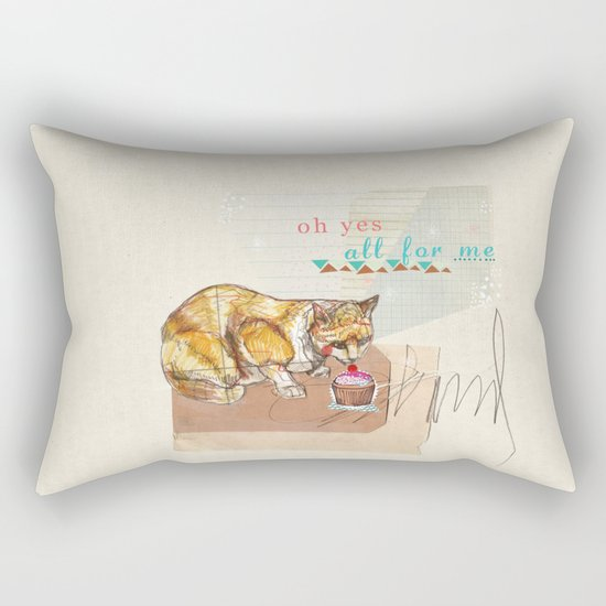 Illustration Friday- Dessert Rectangular Pillow
