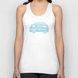 Good Vibes Only retro surfing Camper Van Unisex Tank Top