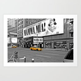 NYC Yellow Cabs Mamma Mia - USA Art Print