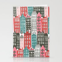 buildings Stationery Cards featuring Buildings by Rae Ritchie