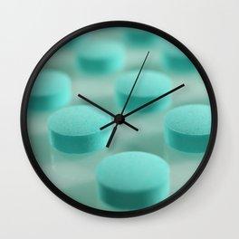 Blue Pills Pattern Wall Clock