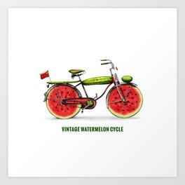 ORGANIC INVENTIONS SERIES: Vintage Watermelon Bicycle Art Print