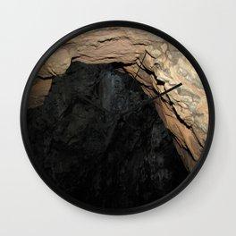 Secret Of The Blue Cave Wall Clock